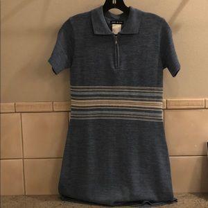 Vintage Esprit de Corp wool striped collared dress